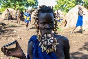 Mursi woman / Omo National Park / Ethiopia
