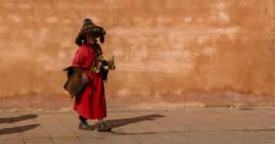 Water seller in Rabat. Picture from the photo gallery Morocco on https://www.edvervanzijnbed.nl/en/