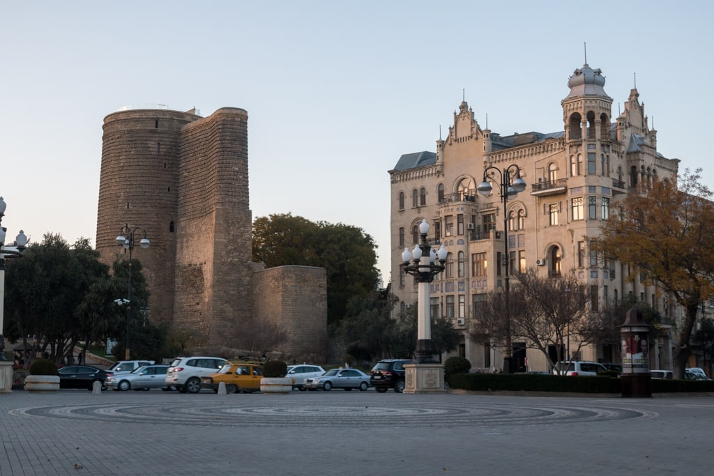 Baku the Paris of the Caucasus with it's icon the Maidan Tower