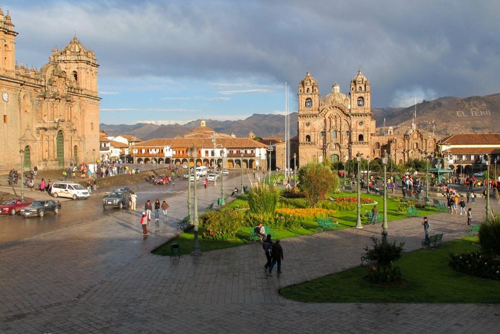 Plaza de las armas in Cusco