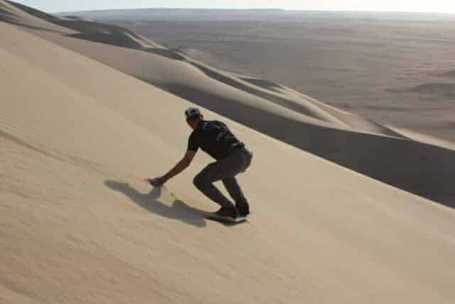 Mastering sandboarding went without a hitch