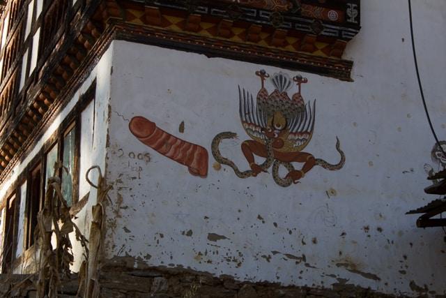 Magical Bhutan with a magic wand on every house.